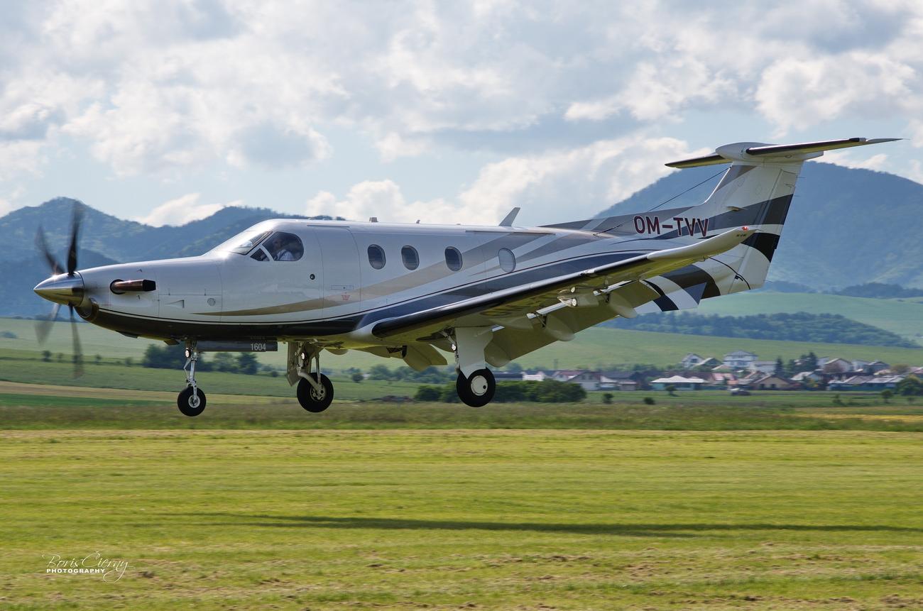 OM-TVV, Pilatus PC12 NG, TatraJet Letisko Martin
