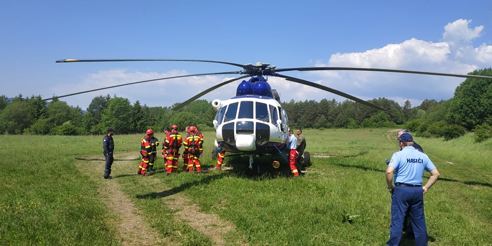 výcvik moduly hasenia, letka MVSR, Mi171